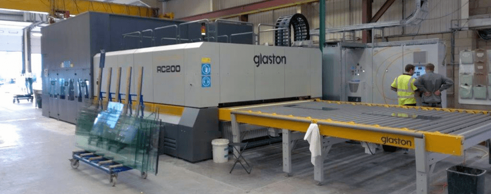 RC200 tempering furnace at Tufwell Glass UK